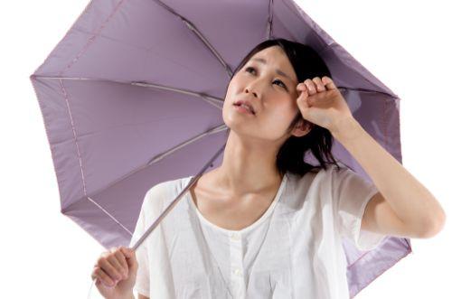 紫外線対策で首イボ予防してるイメージ