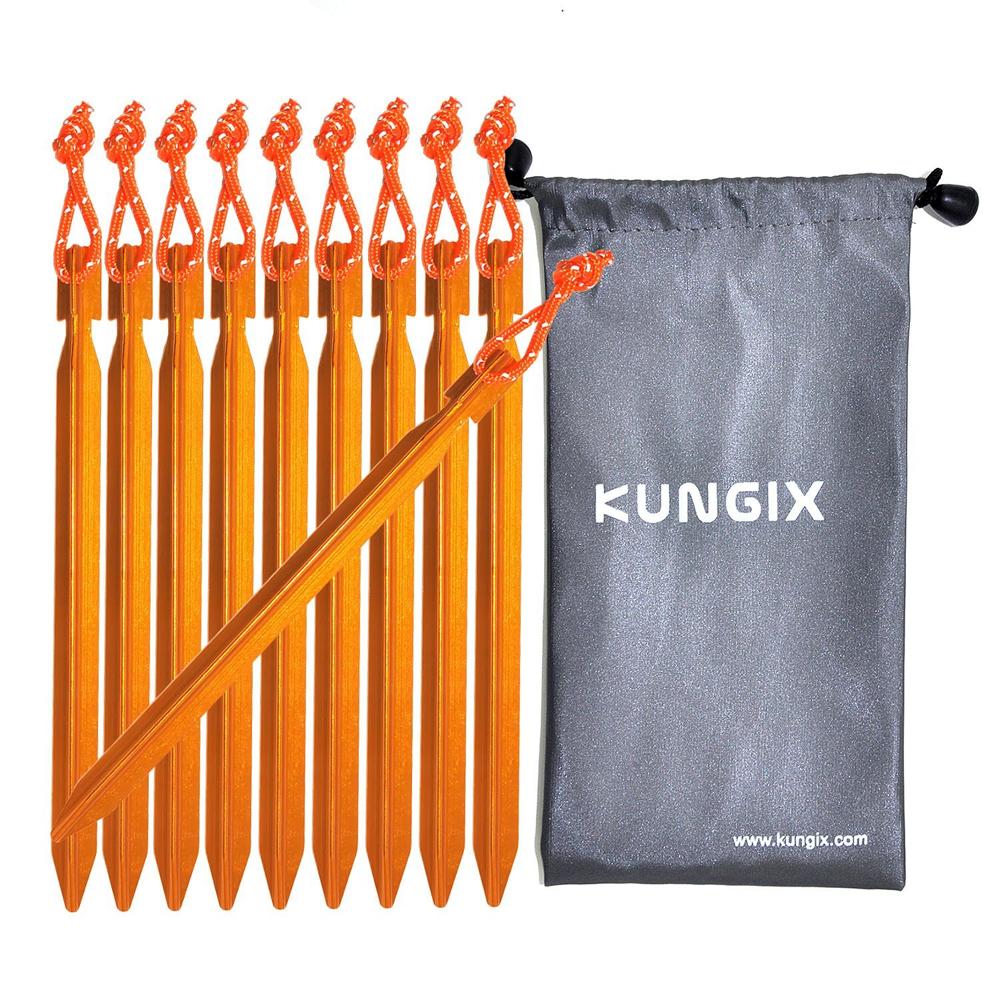 強度と軽さを兼ね備えた「 Kungix テントペグ」
