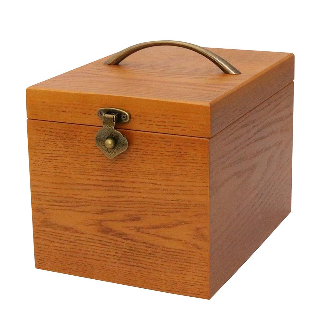 クレエ 木製 メイクボックス 鏡付き